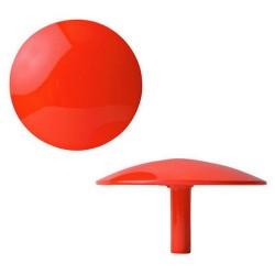 Patère rouge fluo design sentou manto
