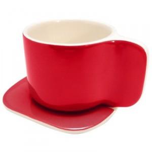 TASSE A CAFE DESIGN TI rouge