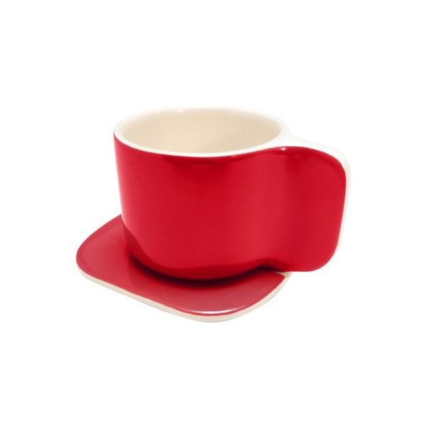 tasse caf design rouge ti sentou. Black Bedroom Furniture Sets. Home Design Ideas