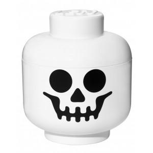Boite lego rangement tête skeleton S blanc