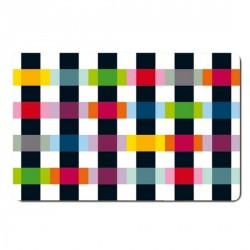 Set de table multicolore remember colour caro (set de 4)