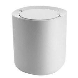Poubelle de salle de bains design alessi birillo blanc