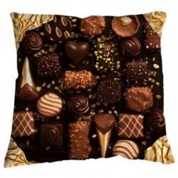 Coussin chocolat cacao bonjour mon coussin 50 x 50