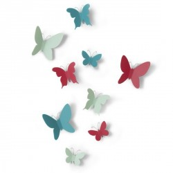 Décor mural papillons multicolores umbra mariposa