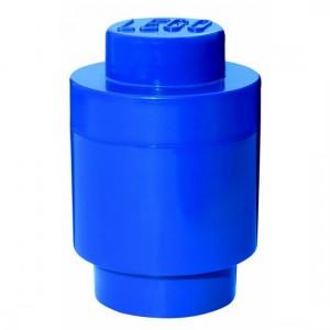 Lego géant boîte de rangement ronde bleue