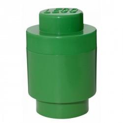 Boîte lego de rangement ronde 1 plot vert