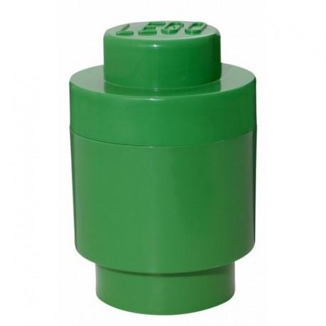 Boîte lego de rangement ronde géante verte