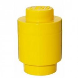 Boîte lego géante ronde jaune