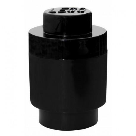 Boîte lego ronde géante de rangement noir