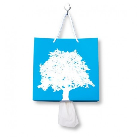 Distributeur de kleenex mural Bag to the nature bleu pa design