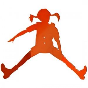 Patère murale orange fifi