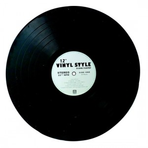 Dessous de plat disque vinyle silicone