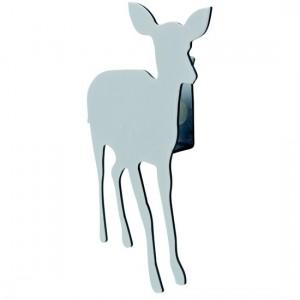 Crochet mural animal bambi blanc