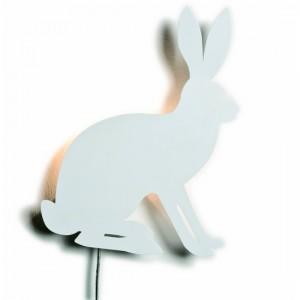 Applique murale lapin blanc pluto