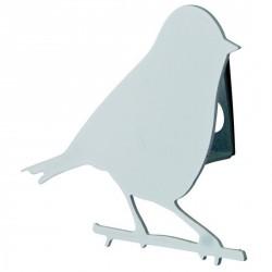 Patère oiseau blanc pluto