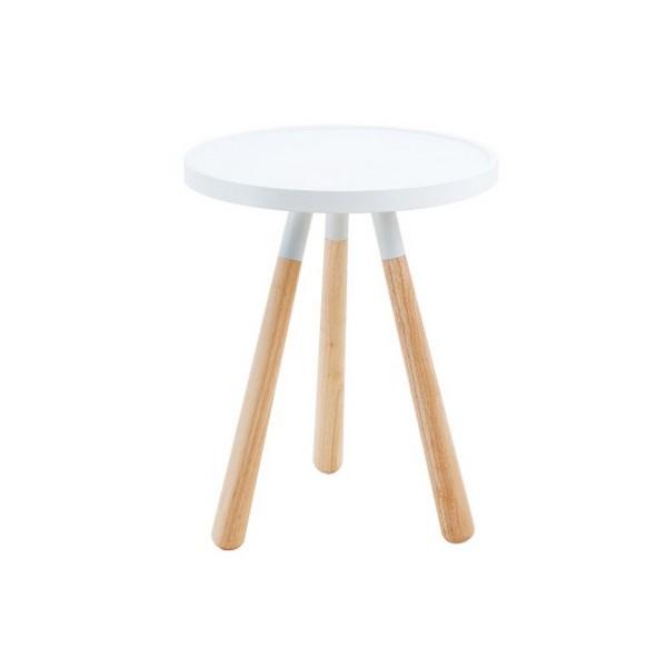 Petite table basse design ronde blanche leitmotiv orbit - Petite table ronde blanche ...