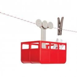 Rangement original pinces à linge Cabina rouge Pa Design