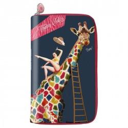 Portefeuille femme design bonjour mon coussin girafe safari XL