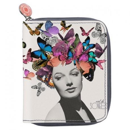 Portefeuille mini compagnon bonjour mon coussin butterfly