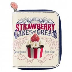 Portefeuille fantaisie original bonjour mon coussin cake cream S