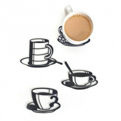 Sottobicchieri Sketch coasters silicone (set 4)