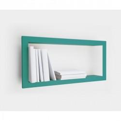 Etagère murale cadre rectangulaire turquoise presse citron largstick acier laqué mat