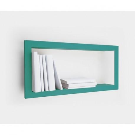Etagere cadre rectangulaire presse citron turquoise