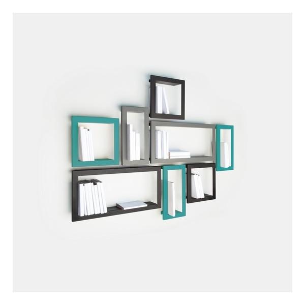 presse citron largestick metal shelf frame turquoise kdesign