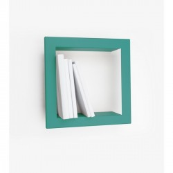 Presse Citron Stick metal estanteria de pared turquesa