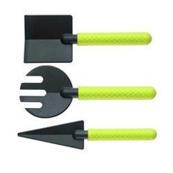 Outils de jardinage jardinage koziol geo vert (set de 3)
