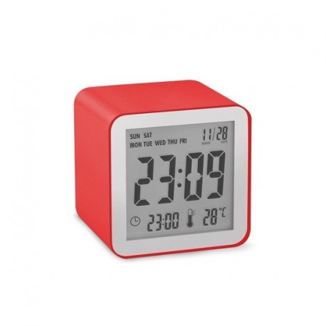 Lexon réveil design rouge cube sensor