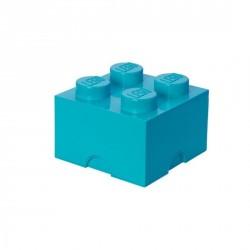 Grande boîte lego rangement 4 plots M azur