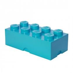Grande boîte rangement lego 8 plot azur L