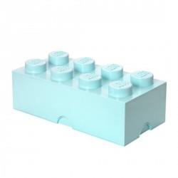 Boîte rangement lego bleu aqua 8 plots L