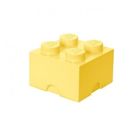Boîle lego rangement jaune cool 4 plots M