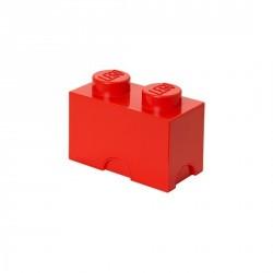 Boîte de rangement lego 2 plots rouge