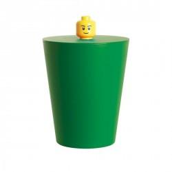 poubelle lego vert foncé