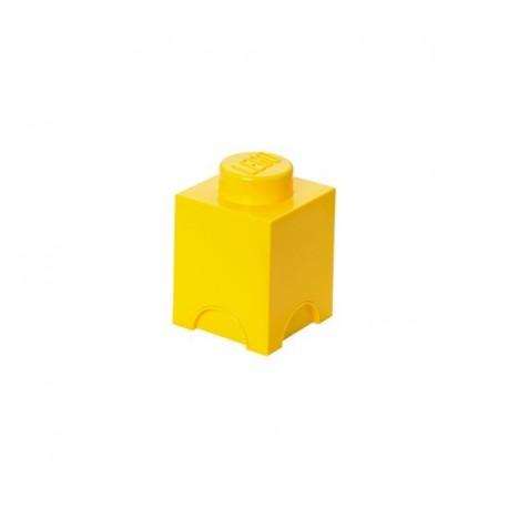 Boîte lego rangement 1 plot jaune