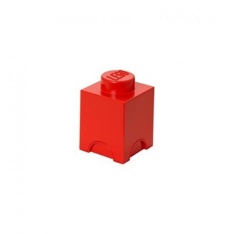 Boîte lego rangement 1 plot rouge