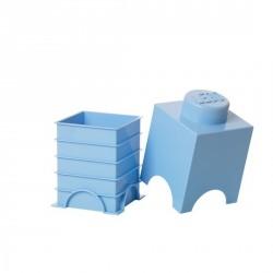 Boîte rangement lego 1 plot bleu clair