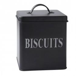 Boîte à biscuits en métal noir galzone
