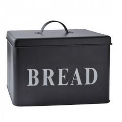 Boîte à pain métal noir galzone bread