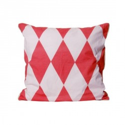 Coussin harlequin present time rose saumon rose clair