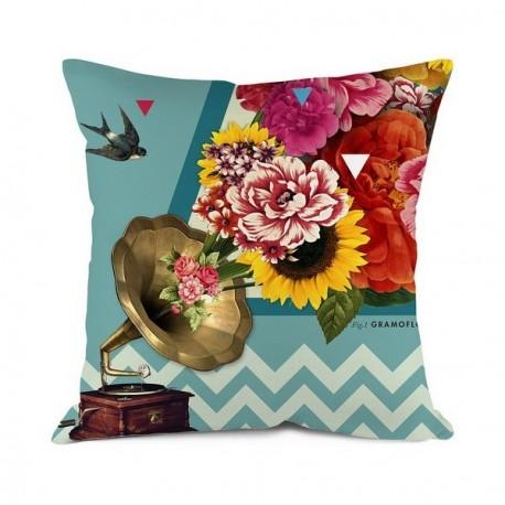housse de coussin fleuri bonjour mon coussin gramoflore. Black Bedroom Furniture Sets. Home Design Ideas