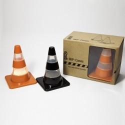 Salière poivrière originale cônes de signalisation pa design