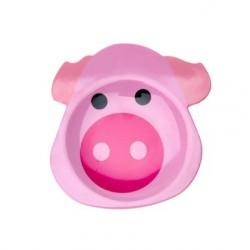 Assiette rigolo rose bébé pig
