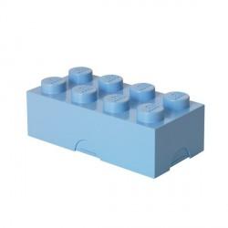 Boîte goûter rigolo lego lunch box bleu clair