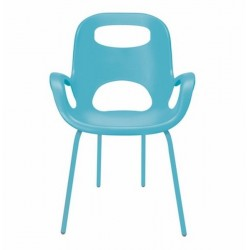 Chaise design turquoise vif umbra oh chair
