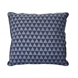 Coussin carré dehoussable triangles gris foncé gris clair 45 x 45