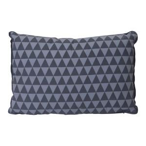 Coussin rectangulaire déhoussable gris clair gris foncé 50 x 30